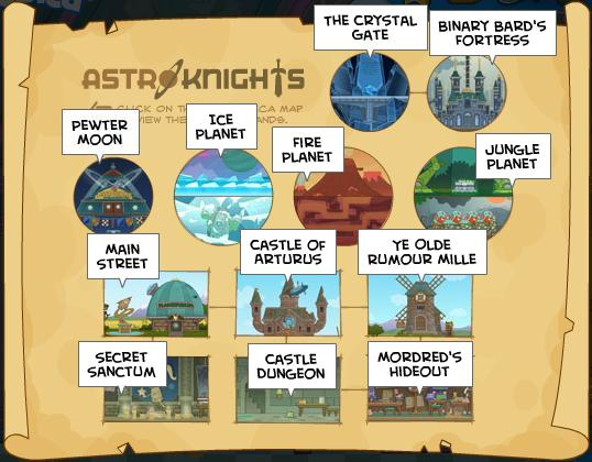 Map of Astro-Knights