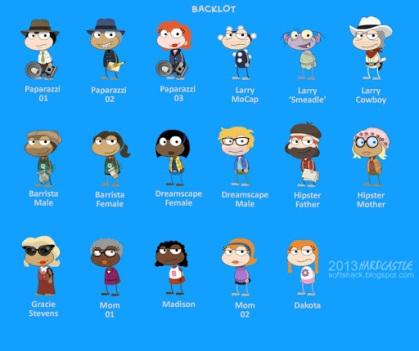 Back Lot Island characters