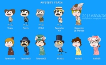 Mystery Train Island characters