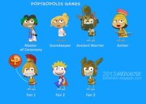 Poptropolis Games Island characters