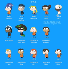 SOS Island characters