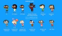 Shrink Ray Island characters
