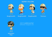 Super Villain Island characters