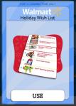 Christmas Holiday Wishlist Card