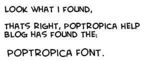 The Poptropica Font [Creative Block BB]