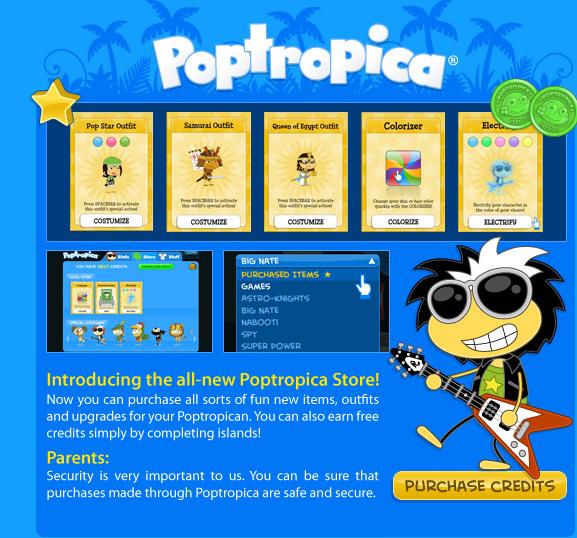 Poptropica Store Info
