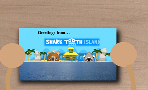 Shark Tooth Postcard