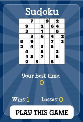 Sudoku card