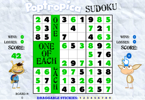Sudoku One of each