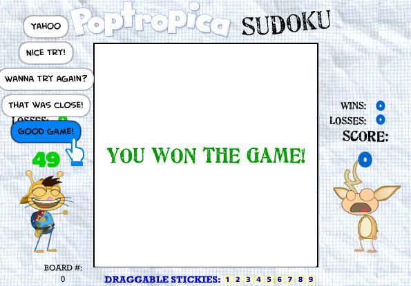 Sudoku win