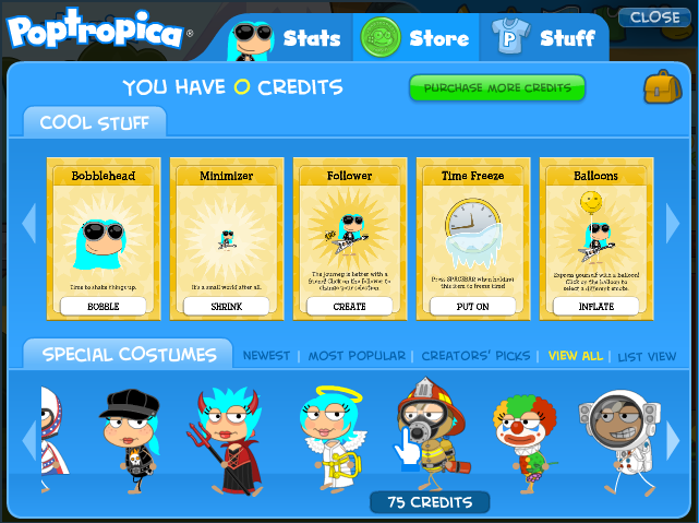 Updated store