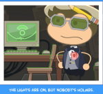 The lights are on, but nobody's Holmes.