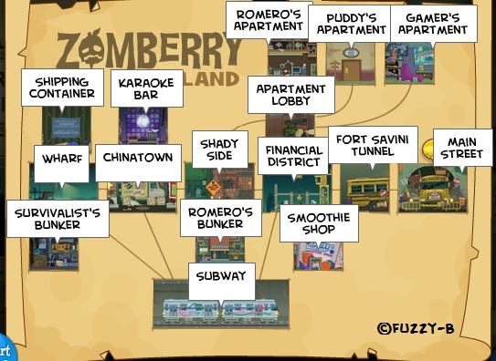 Zomberry Island Map