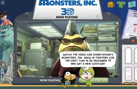Monsters Inc 3D ad