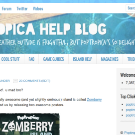 """In 2012, the site had another makeover, using the """"Lifestyle"""" theme."""