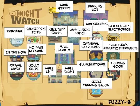 Night Watch Island Map