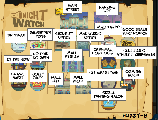 Night Watch Island Map