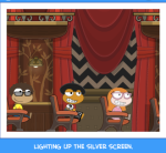 Lighting up the silver screen.