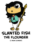 slanted fish