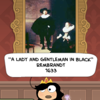 a lady and gentleman in black