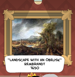 landscape with an obelisk