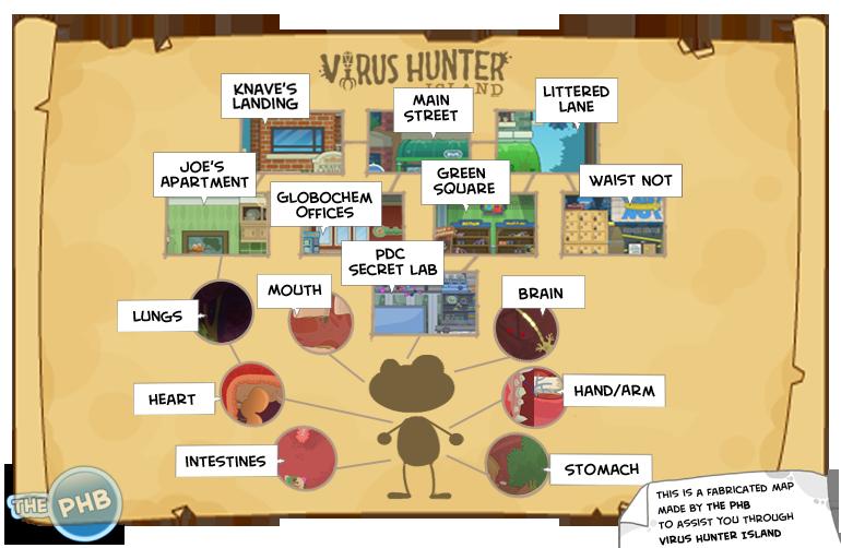 virushunterisland map