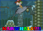 Captain Crawfish Riding a Narwhal (poster)