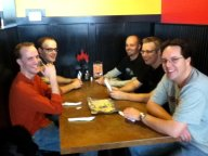 Lunch with some of my fellow Poptropica co-workers.
