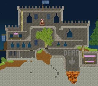 Prickly Clown: medieval castle