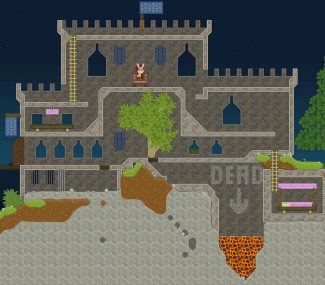 Prickly Clown: medieval castle