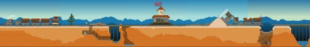 Skinny Sponge: desert town