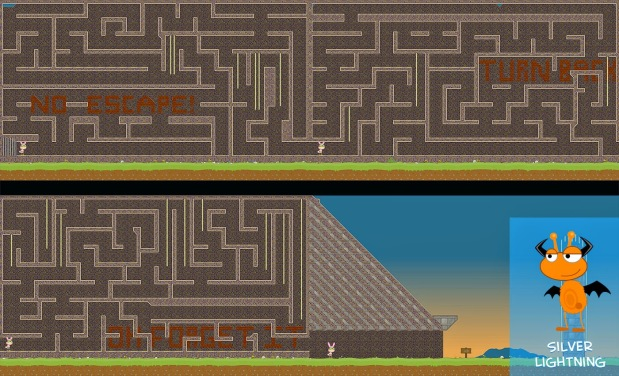 From Silver Lightning (another repeat Land challenge champ), this multi-screen course is truly a-maze-ing!