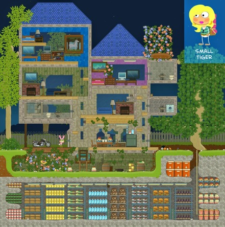 From Small Tiger, this one has it all: a lovely garden, comfortable accommodations, and a storeroom that will guarantee you outlast the apocalypse.