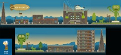 """""""From White Flyer, it looks like a Poptropica Main Street! Even without the blimp it's a dead ringer. Well done."""""""