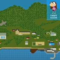 """""""From Creepy Goose, how clever is this? She zoomed way out for a blimp's-eye view of her village."""""""