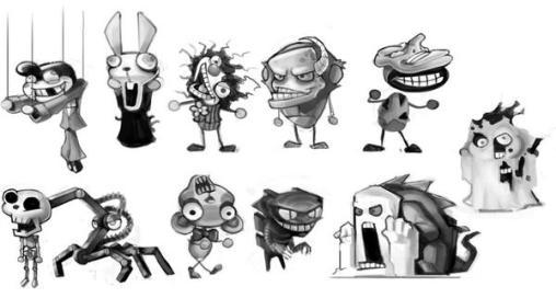 monster carnival concept art
