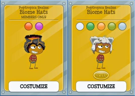 biome hats