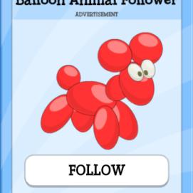 balloonanimalfollower
