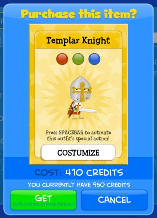 templar knight 410 credits