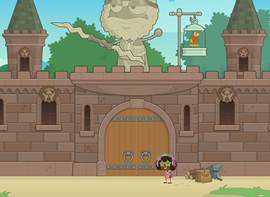 Castle Crasher: A palace fit for a queen.