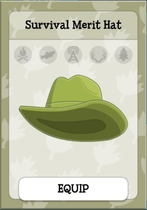 survival merit hat