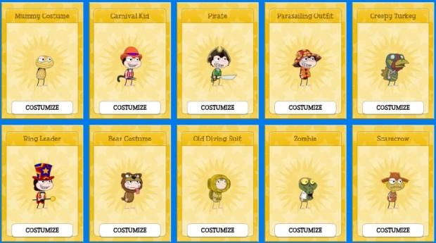 unreleased app costumes