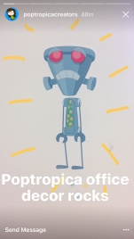 Poptropica office decor rocks