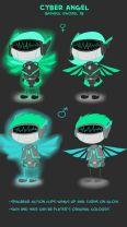 """""""Cyber Angel"""" by Bashful Sword"""