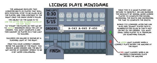 License plate minigame, Escape From Pelican Rock