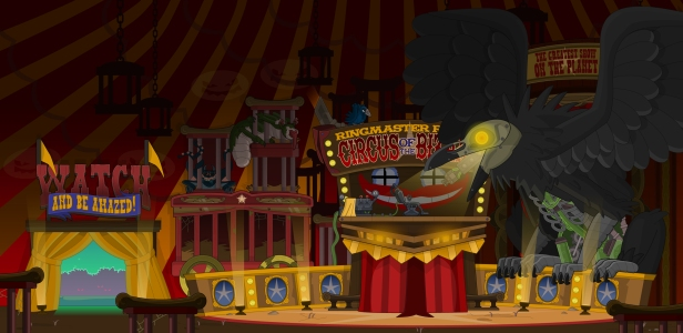 Ringmaster Raven's Tent, Monster Carnival Island