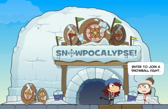 snowpocalypse igloo