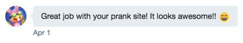 sm comment prank