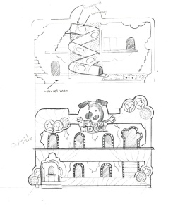 Wimpy Boardwalk Fun House sketch