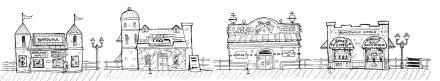 Wimpy Boardwalk games early sketch
